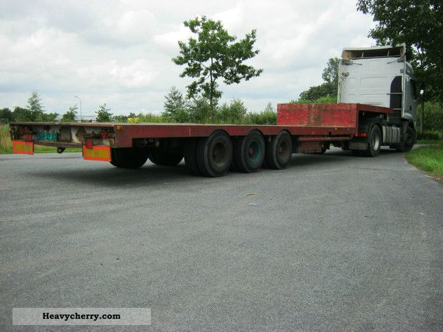 1990 Broshuis  not4 Semi-trailer Low loader photo