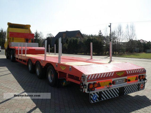1995 Broshuis  2190/27 Pull-6m Semi-trailer Low loader photo