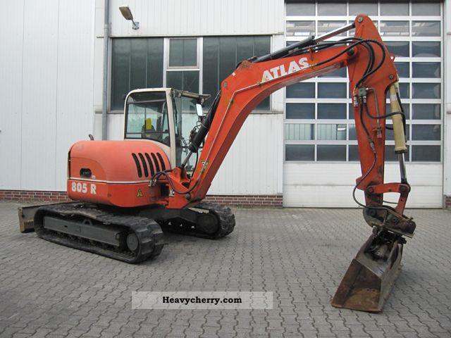 2003 Terex  TC 75 / Atlas 805R Construction machine Caterpillar digger photo