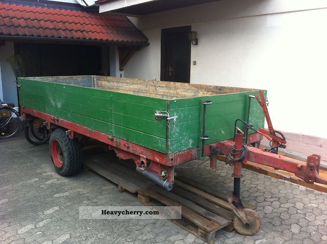 Single Axle Trailer Specs : Mengele single axle trailer other agricultural
