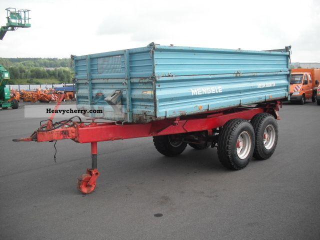 2012 Mengele  Tandem Tipper MEDK 6900 TA Agricultural vehicle Loader wagon photo