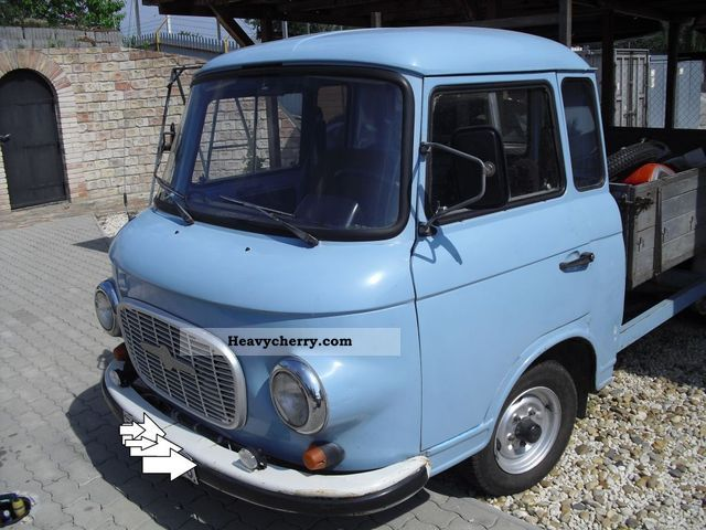 1988 Barkas  W 1000 HP-CAMP Van or truck up to 7.5t Stake body photo