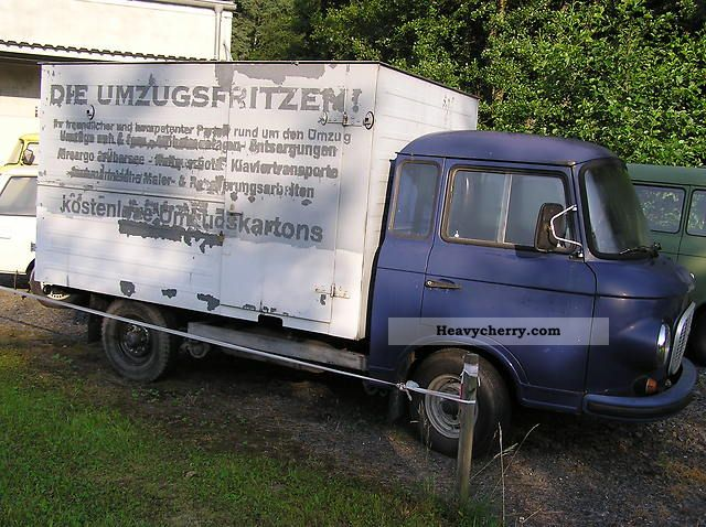 1970 Barkas  B1000 vintage Van or truck up to 7.5t Box-type delivery van photo