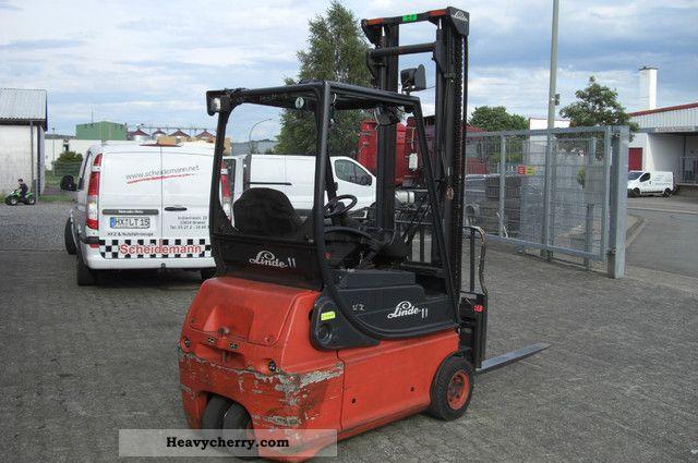 Linde E16 2 H2x Seitenschieber 2005 Front Mounted Forklift