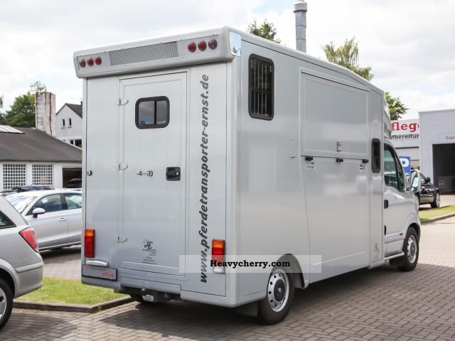 renault master 2 horse transporter air gra elekt fh 2008 cattle truck photo and specs. Black Bedroom Furniture Sets. Home Design Ideas
