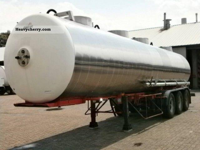 1988 Magyar  Chemicals inox 30 m3 / 1 comp. Semi-trailer Tank body photo