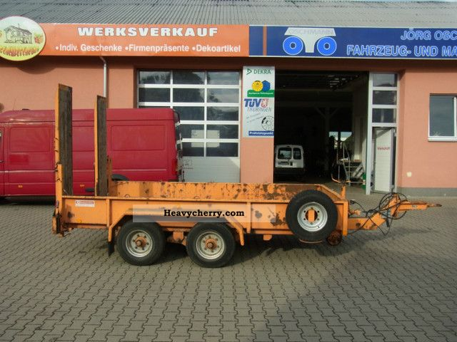 2001 Blomenrohr  Blomenröhr 543/4500, transport equipment Semi-trailer Low loader photo