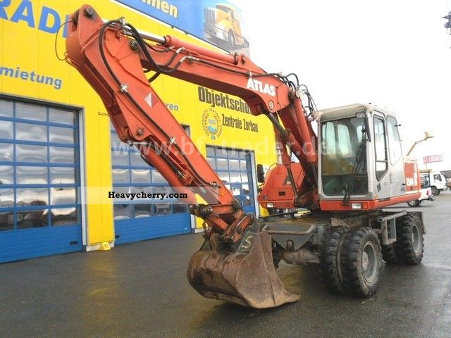 2003 Atlas  1504 M excavator Construction machine Mobile digger photo
