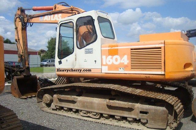 1997 Atlas  1604 LC Construction machine Caterpillar digger photo