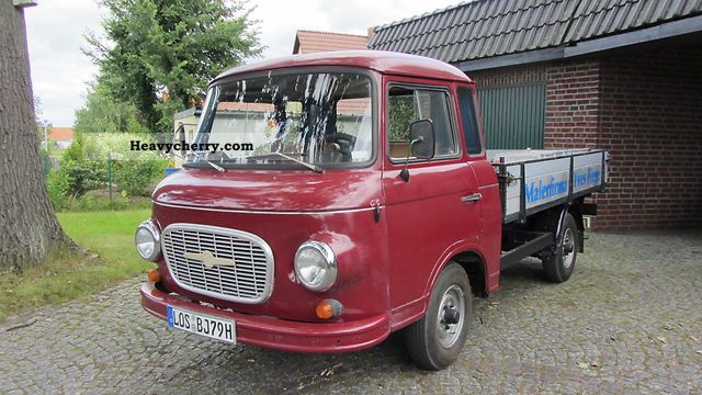 1979 Barkas  B1000 Pick H-plates Van or truck up to 7.5t Stake body photo