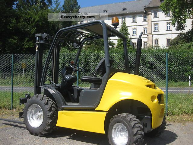 2003 Manitou  Ausa 4x4 Diesel Forklift Linde as Forklift truck Rough-terrain forklift truck photo