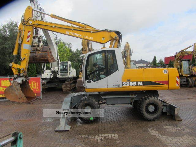 2008 Atlas  2205 M ** 2x Paws / Air / W / TOP CONDITION ** Construction machine Mobile digger photo