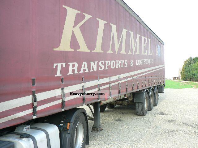2001 Trailor  Firanka Semi-trailer Stake body and tarpaulin photo