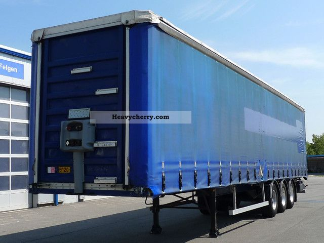2003 General Trailer  * Tautliner Edscha sliding roof * ABS * Lift and drop * Semi-trailer Stake body and tarpaulin photo