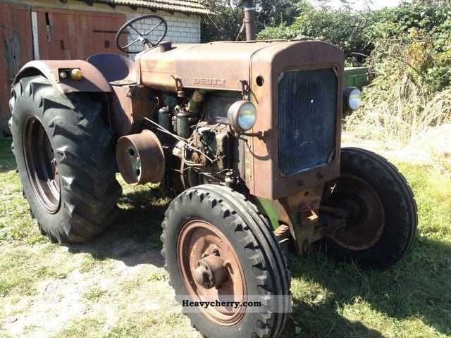1952 Deutz-Fahr  35 hp Deutz steel F2M317 + + Top technology, Patina + + Agricultural vehicle Tractor photo