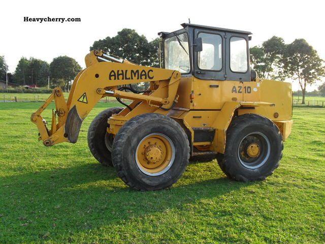 1992 Ahlmann  AS 10 Construction machine Wheeled loader photo