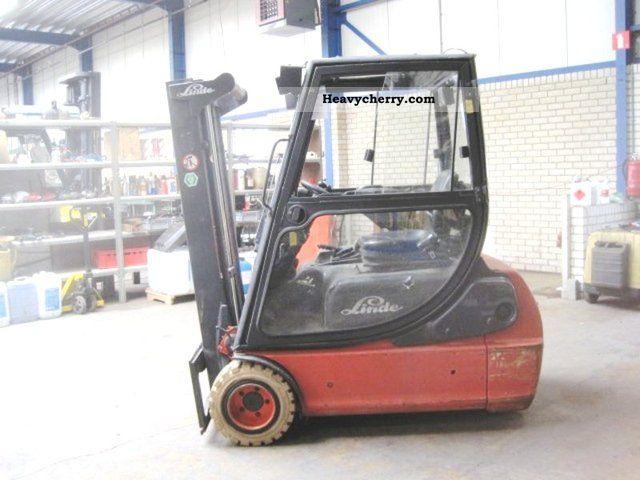 2005 Linde  E 18 C - 02 / SIDE SHIFT Forklift truck Front-mounted forklift truck photo