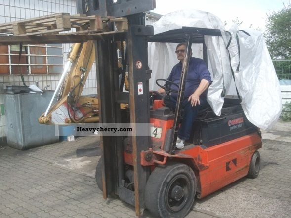1991 Linde  E renews 40 3.5 m Batteries 2007 Forklift truck Front-mounted forklift truck photo