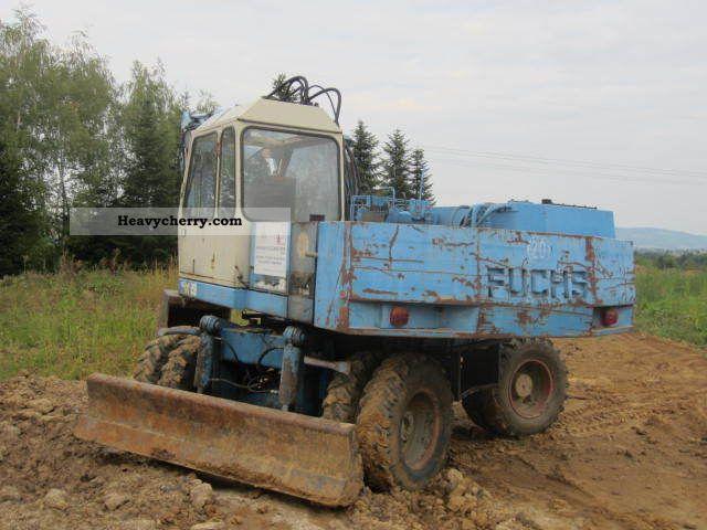 1992 Fuchs  713.3 Lehnhoff 1.Löffel Construction machine Mobile digger photo