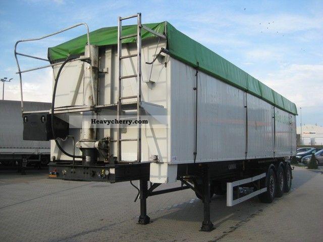 2000 Carnehl  49 cbm dump, air / lift, body heating Semi-trailer Tipper photo