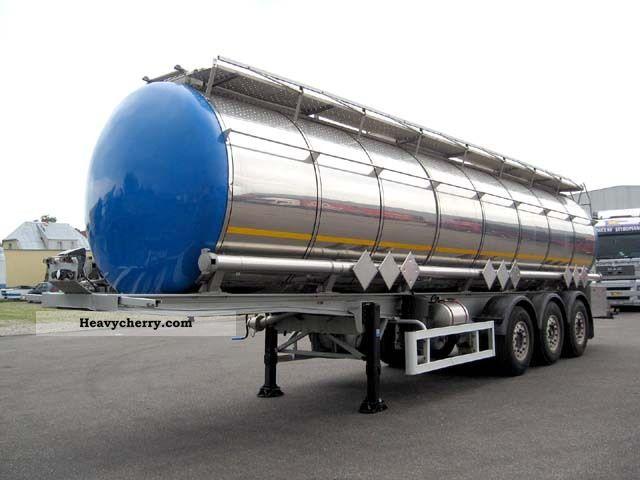 2000 Menci  OPRA chemical - ADR - 3 compartments - Heating - pressure Semi-trailer Tank body photo
