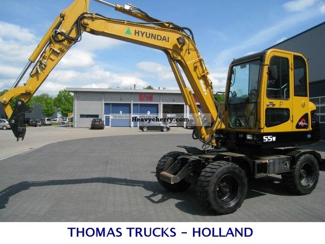 2006 Hyundai  Robex 55 W 7 Construction machine Mobile digger photo