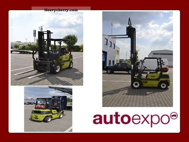 Clark CQ 25 LPG with side shift, 2 5 t 2009 Front-mounted forklift