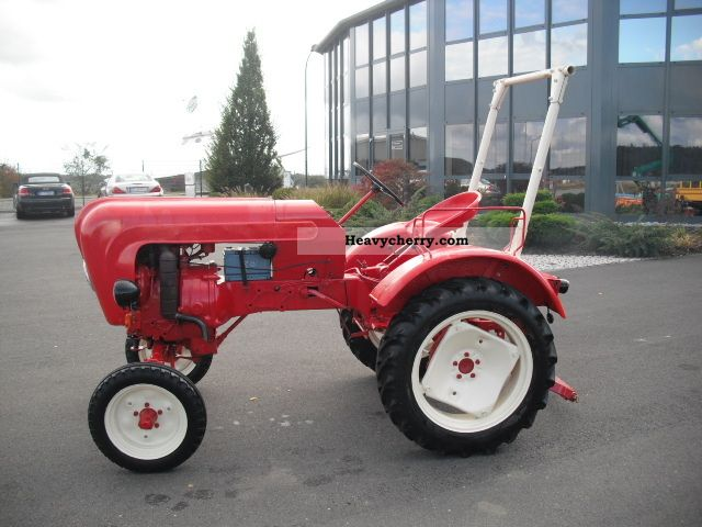 Porsche Allgaier A 111 with linkages + Zapfwellle 1956 Agricultural Tractor Photo and Specs