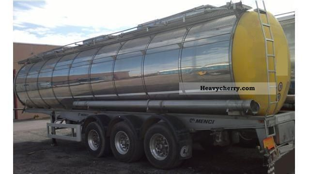 1996 Menci  FOOD ABS + ISOLATION 100 * C = +1 ^ LIFT 3xROOM 32.000LTR Semi-trailer Tank body photo