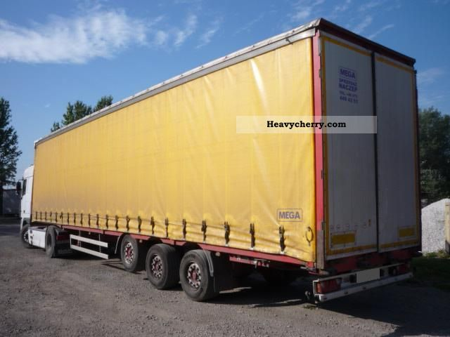 2006 MEGA  NACZEPA FIRANKA -! osie: Tarcza! Semi-trailer Stake body and tarpaulin photo