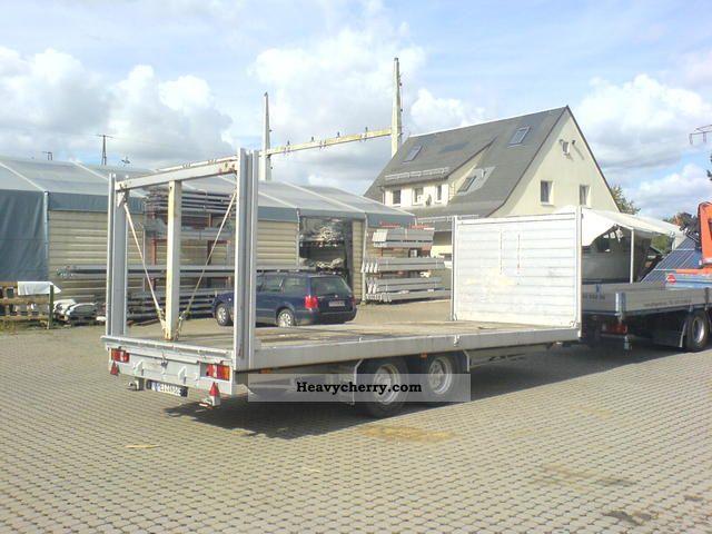 1998 Blomenrohr  Blomenröhr SDAH platform Trailer Car carrier photo