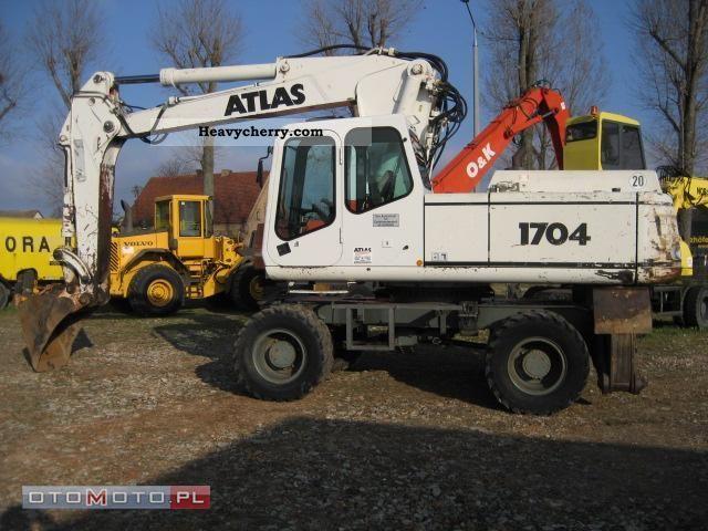 1995 Atlas  1704 Construction machine Mobile digger photo