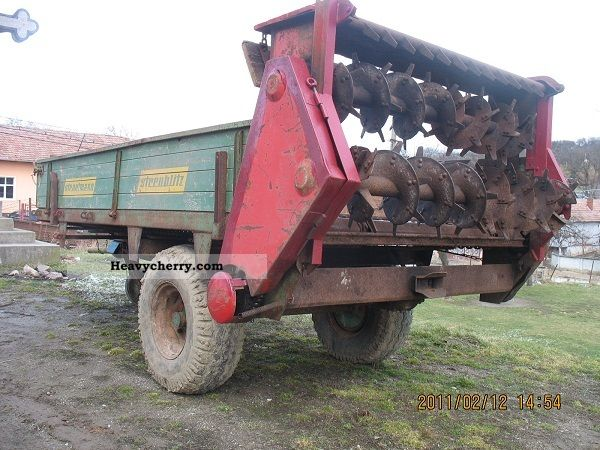 2012 Strautmann  , Remorca pt imprastiat gunoi Agricultural vehicle Fertilizer spreader photo