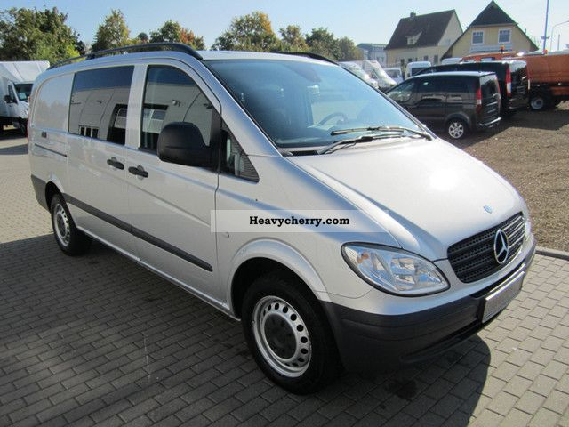 mercedes benz vito 115 cdi mixto long truck 2xschiebet r 2009 box type delivery van long. Black Bedroom Furniture Sets. Home Design Ideas