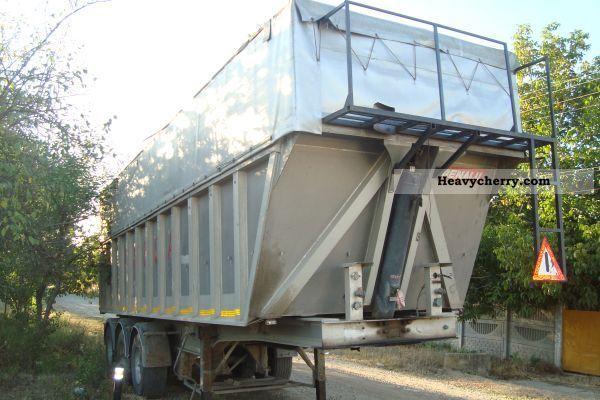 2003 Benalu  bena cereale 58m cubi Semi-trailer Tipper photo