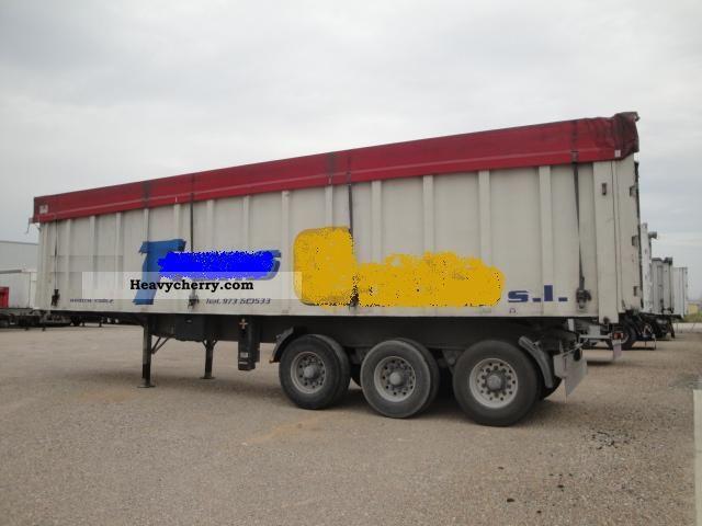1992 Benalu  10.60m 2.10m x 52m3 Semi-trailer Tipper photo