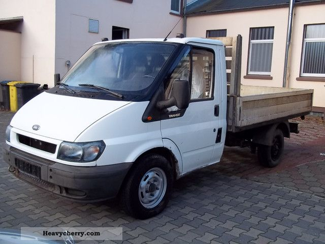2002 Ford  Transit 2,4 TD aluminum flatbed Van or truck up to 7.5t Stake body photo