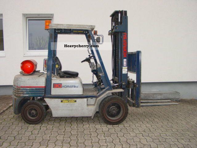 1995 Komatsu  FG 30T-11E Forklift truck Front-mounted forklift truck photo
