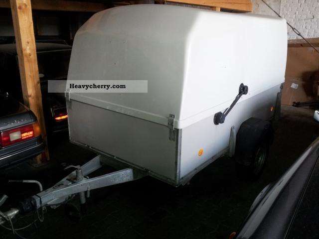 1994 Westfalia  Box trailer with lockable fiberglass cover Trailer Trailer photo