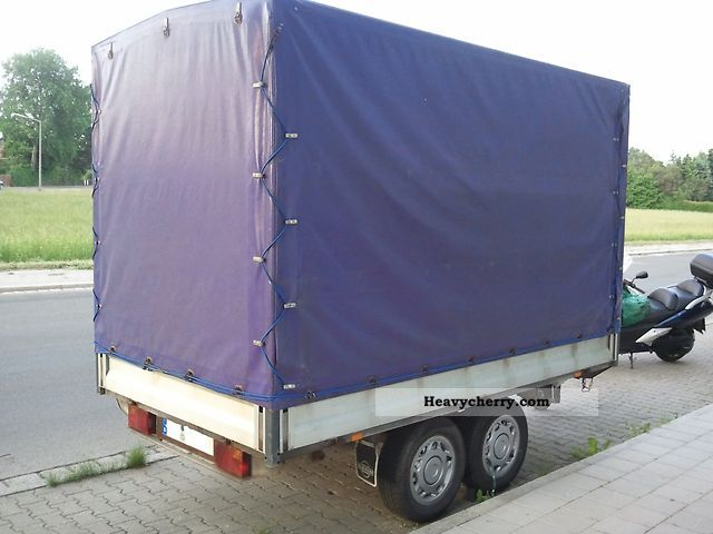 2002 Heinemann  SDAH open box (tandem hoops and tarpaulins) Trailer Stake body and tarpaulin photo