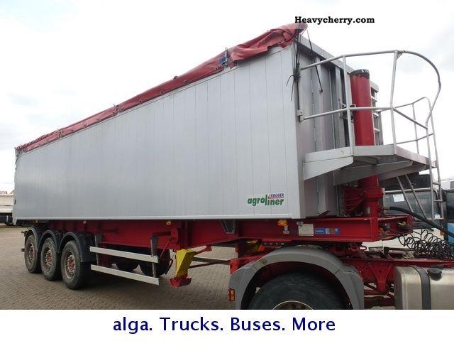 2007 Kroeger  Aluminum Dump, 49 m³, grain slide, tilt, Semi-trailer Tipper photo