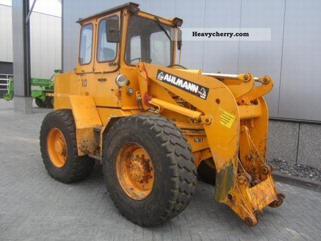 1992 Ahlmann  AZ10 Construction machine Wheeled loader photo