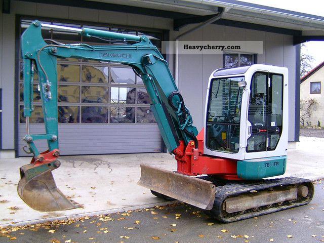2003 Takeuchi  TB 53 FR 5200 KG Construction machine Mini/Kompact-digger photo