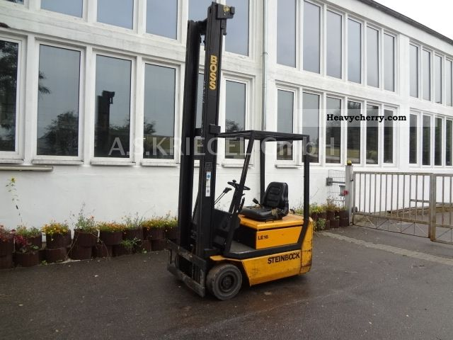 1993 Steinbock  BOSS LE16 ELECTRIC 24V 5,4 m 1,6 t Forklift truck Front-mounted forklift truck photo