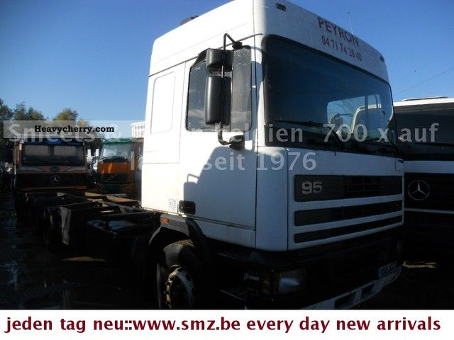 1992 DAF  95-400 6X2 LONG RETARDER Truck over 7.5t Chassis photo