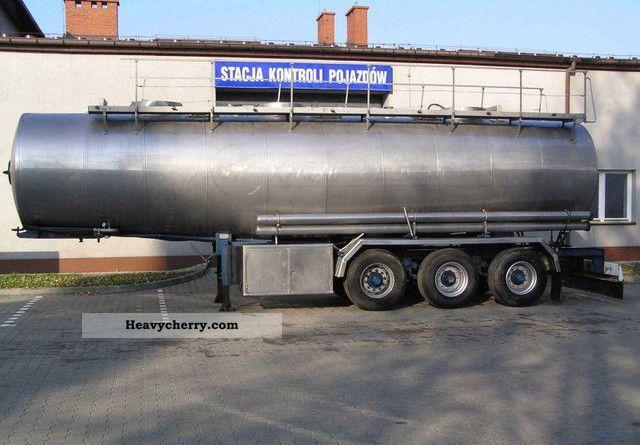 1989 Magyar  FOOD TANK Semi-trailer Tank body photo