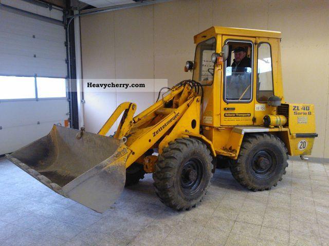 1991 Zettelmeyer  401B (401 B) Construction machine Wheeled loader photo