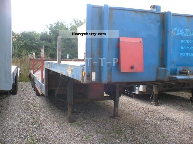 1988 Broshuis  Extendable / Journal / Steelsuspension Semi-trailer Low loader photo