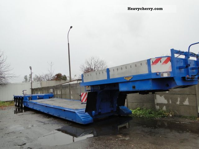 1996 Broshuis  4ABD-58 Semi-trailer Low loader photo