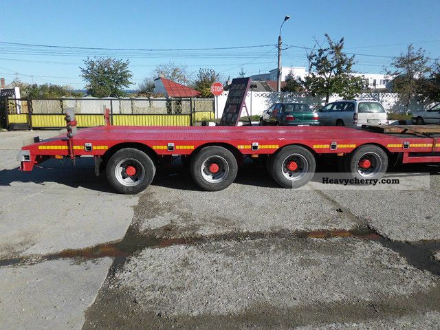 1998 Broshuis  4AOU-16-24 Semi-trailer Low loader photo